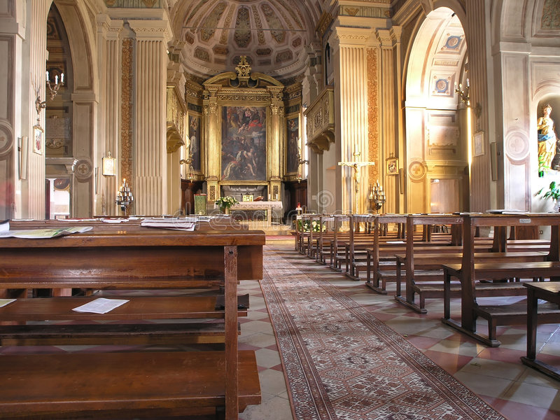 Download Church interior stock image. Image of arch, bench, clergy - 1716545