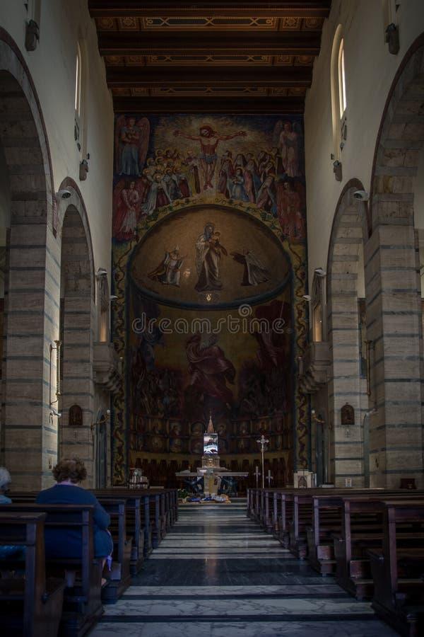 Church interior in Cagliari, Sardinia royalty free stock images