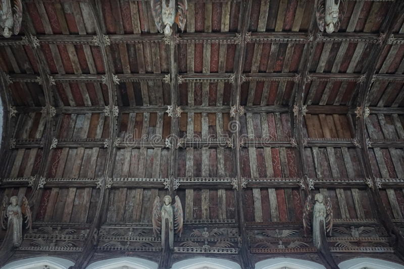 Church interior roof royalty free stock images