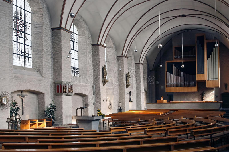 Download Church Interior Monschau Germany Stock Image - Image: 10791237