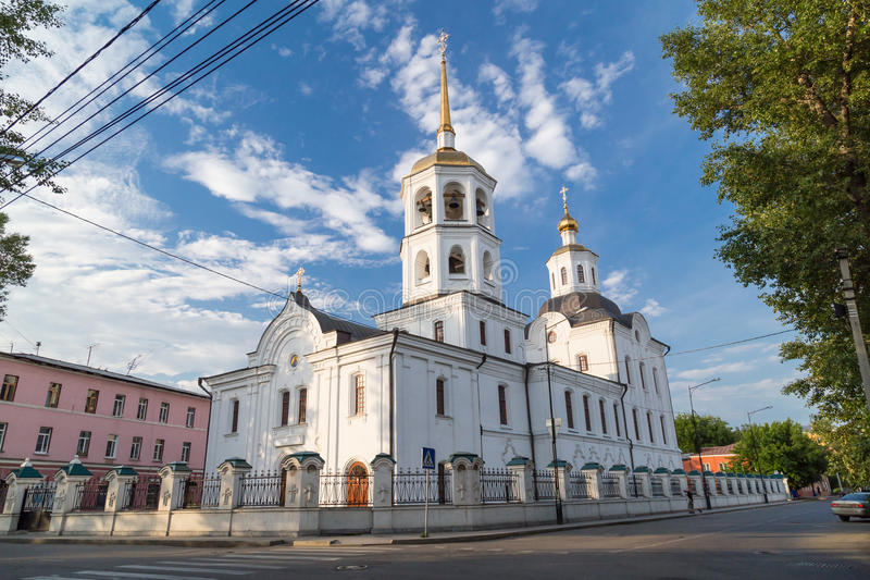 Church in Irkutsk, Russia. Church in Irkutsk, Siberia, Russia royalty free stock photography