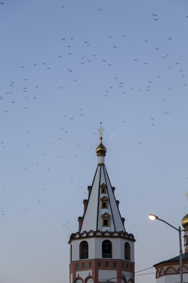 The church in Irkutsk ,russian federation. The church is taken in Irkutsk ,russian federation royalty free stock photos