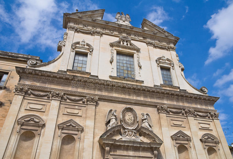 Church of the Jesus. Lecce. Puglia. Italy. Perspective of the Church of the Jesus. Lecce. Puglia. Italy stock photo