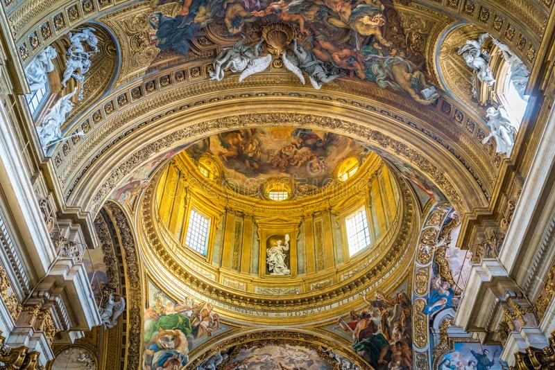 Church of the Jesus in Rome, Italy. royalty free stock photo