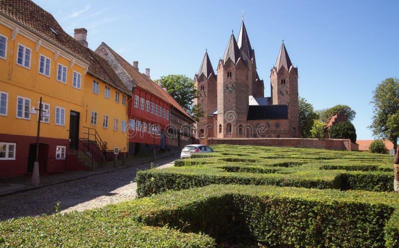 Church in Kalundborg (Denmark). The old Church in Kalundborg (Denmark stock photography