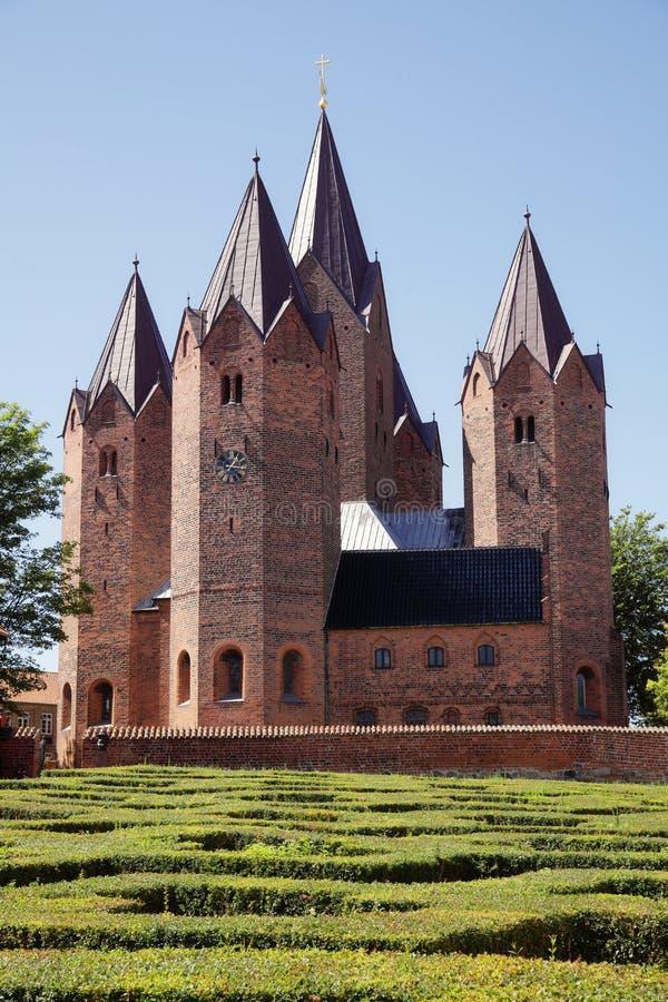 Church in Kalundborg (Denmark). The old Church in Kalundborg (Denmark royalty free stock photo