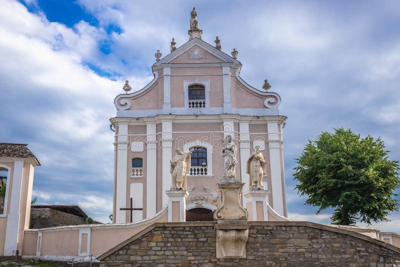 Church in Kamianets Podilskyi royalty free stock photos