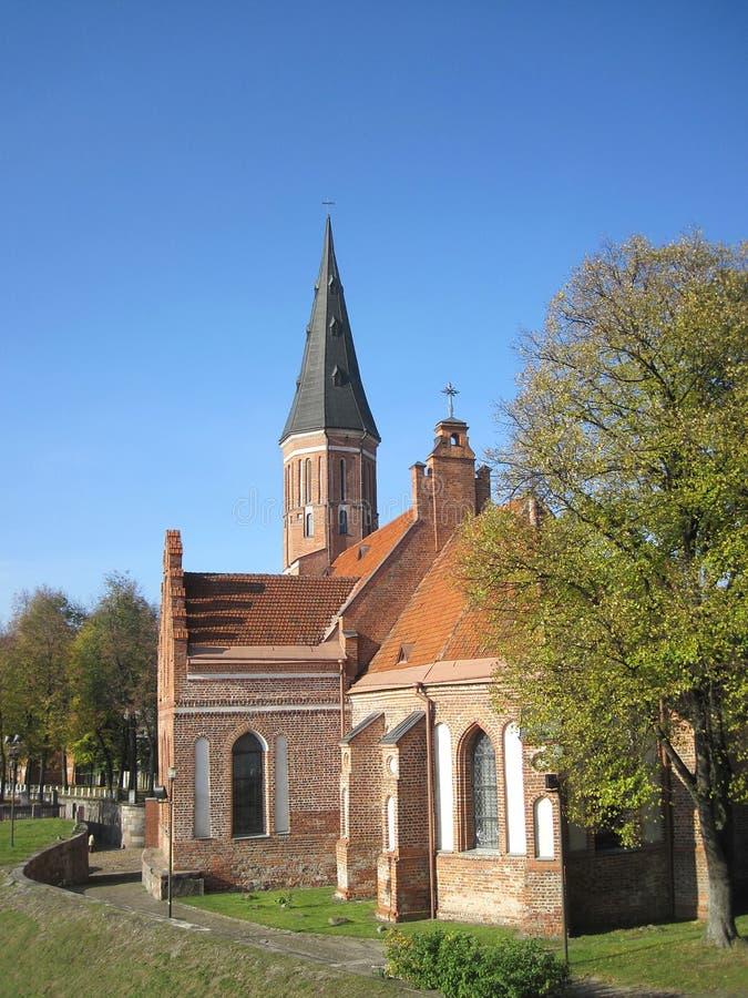 Church in Kaunas. Vytautas church in Kaunas, Lithuania royalty free stock image