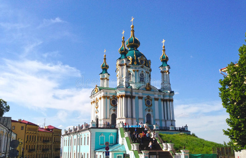 Church in Kiev. With the view of sky royalty free stock photo