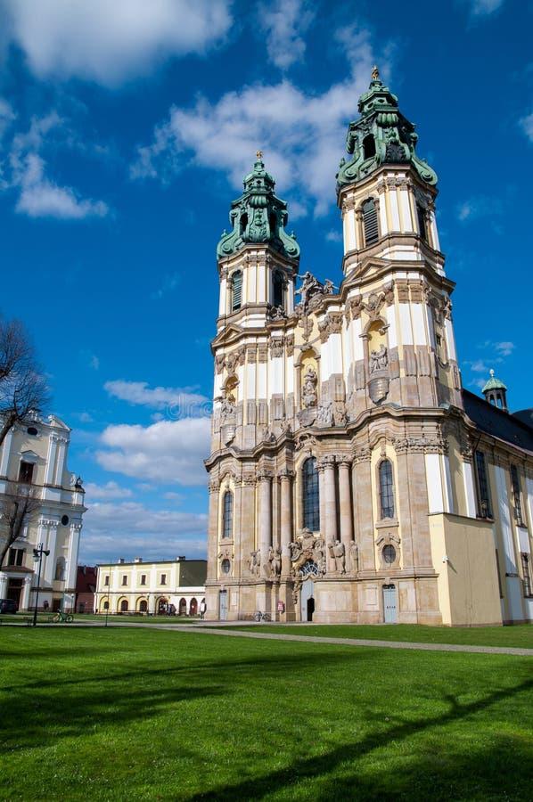 Church in Krzeszow, Poland stock image