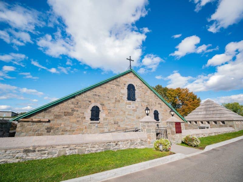 Church of La Citadelle de Quebec. At Canada stock photos