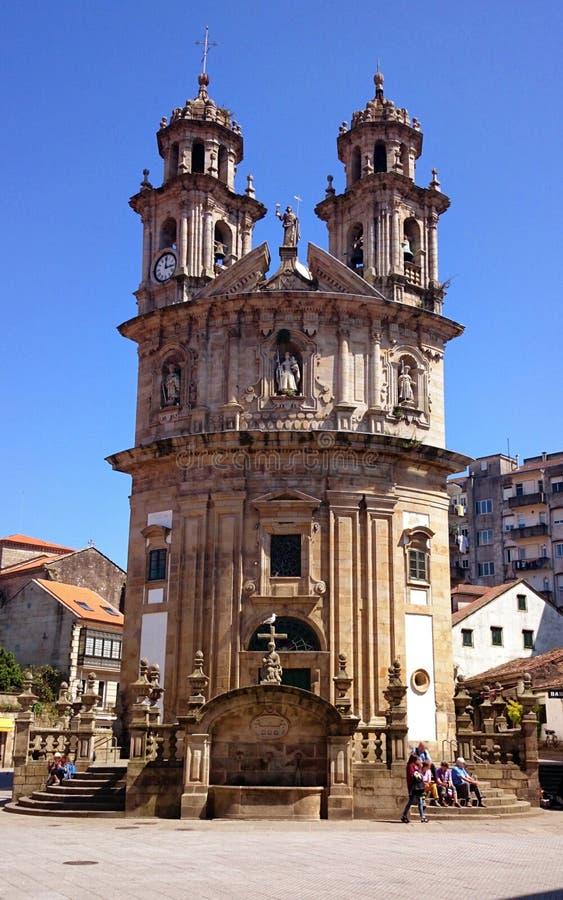Church of La Peregrina in Pontevedra. Spain stock photography