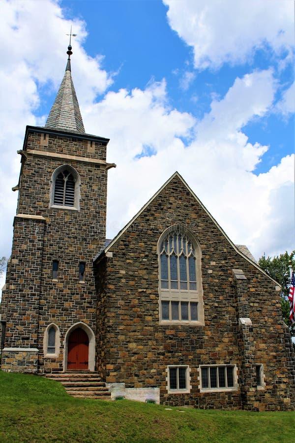 Lake Placid. Church at Lake Placid, New York village royalty free stock photography