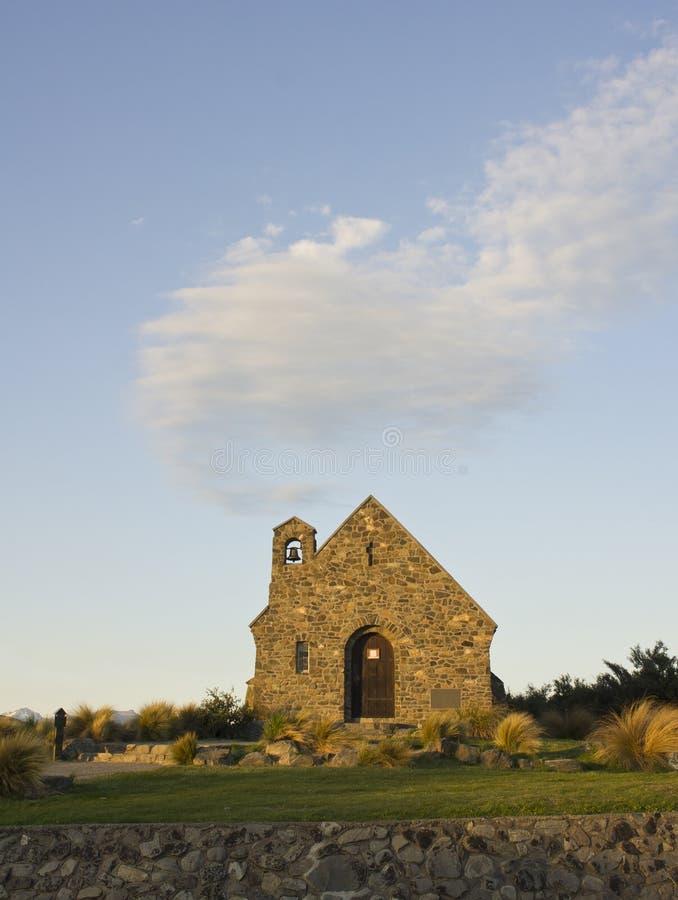 Church On Lakeshore Stock Photography
