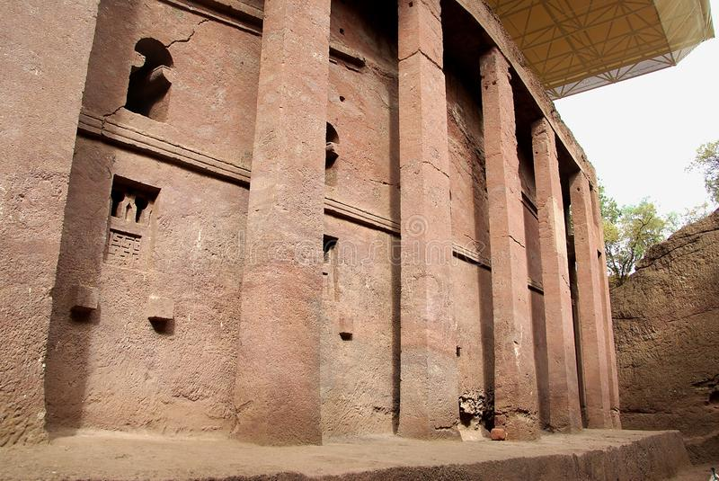 Church in Lalibela, Ethiopia royalty free stock photo