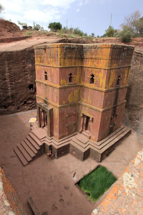 Church in Lalibela, Ethiopia. Orthodox ethiopian church - the saint George - in Ethiopia, Africa royalty free stock image