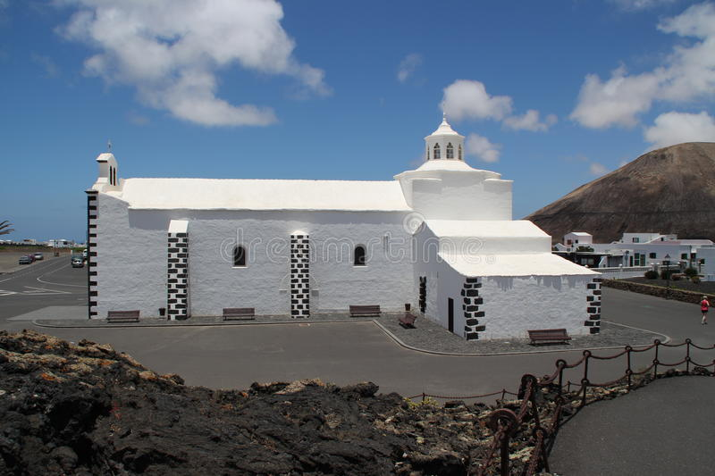 A church in Lanzarote royalty free stock photo