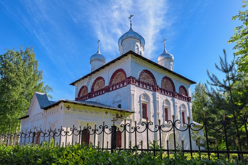 Church of the Holy Trinity in the town of Staraya Russa, Russia. The Church Of Life-giving Trinity (Holy Trinity), a large church of the second half of the XVII stock images