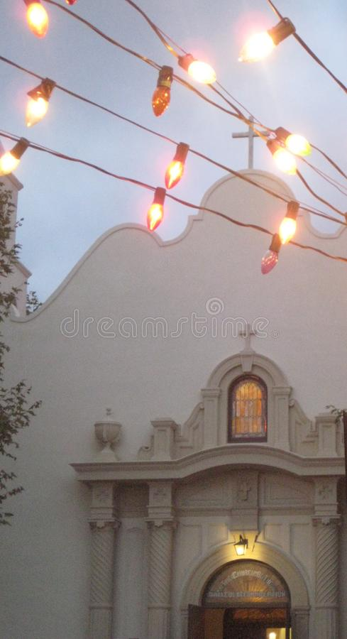 Church with Lights royalty free stock photography