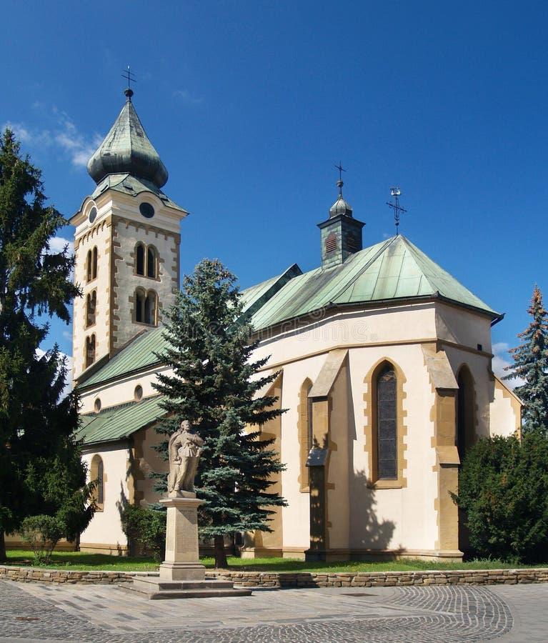 Church in Liptovsky Mikulas. Slovakia royalty free stock photography