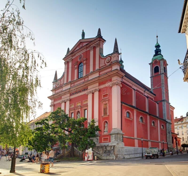 Church in Ljubljana royalty free stock images