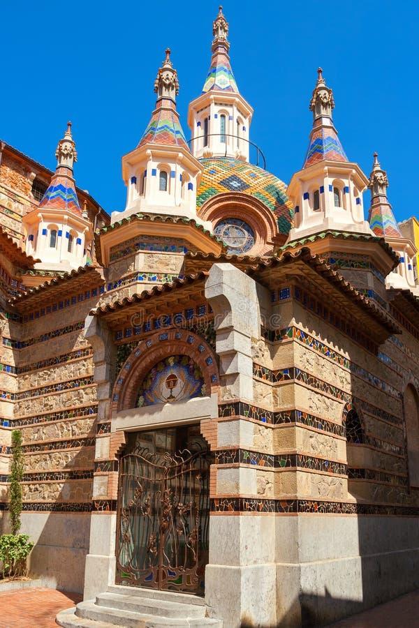 Church in Lloret de Mar. Spain. Parish Church of Sant Roma in Lloret de Mar. Girona province, Catalonia, Spain royalty free stock image