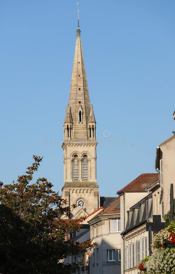 Church located in the city of Argenteuil and named Basilique Saint Denys. France. Church located in the city of Argenteuil and named Basilique Saint Denys . Val stock images