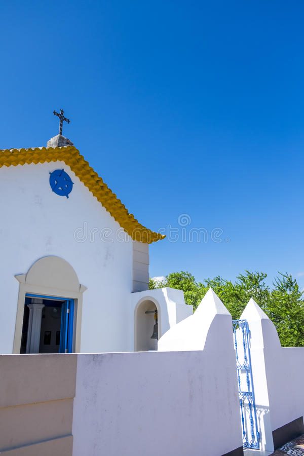 Church located on the island of the Frades royalty free stock photo