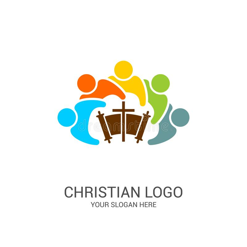 Free Church Logo And Biblical Symbols. The Unity Of Believers In Jesus Christ, The Worship Of God Royalty Free Stock Photos - 146970338