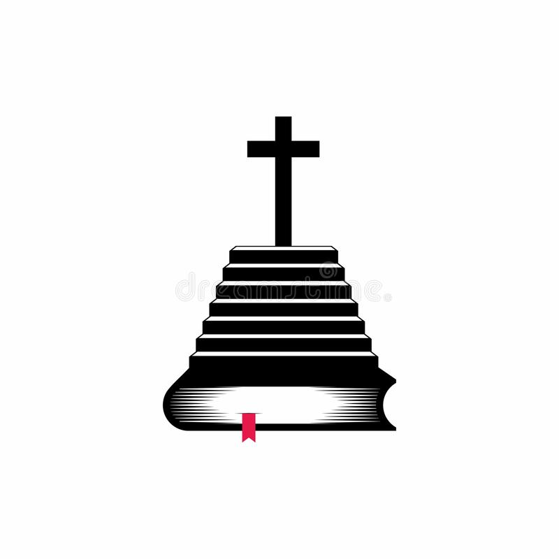 Free Church Logo. Christian Symbols. Bible Scripture - Is A Staircase Leading To The Knowledge Of The Lord And Savior Jesus Christ Royalty Free Stock Photos - 123523758