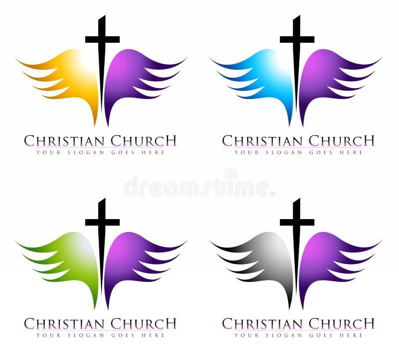 Download Church Logo stock illustration. Image of angel, entrance - 36491711