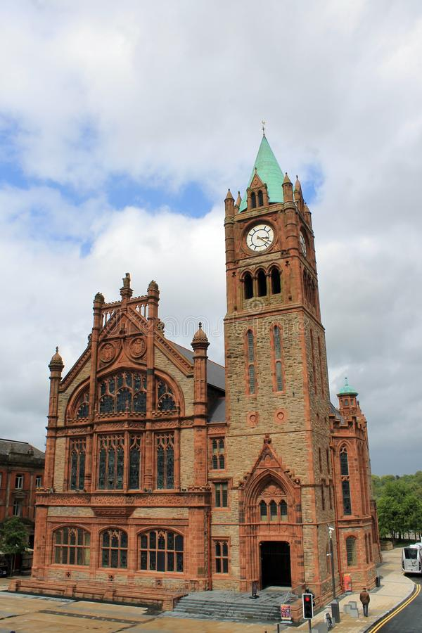 Town hall in Londonderry. Londonderry is a town in Northern Ireland royalty free stock photography