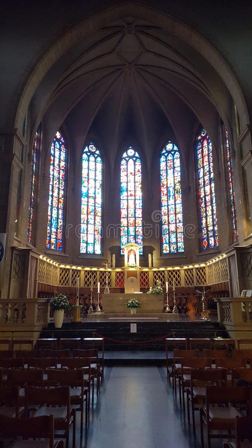 Church Luxembourg cathedral royalty free stock photo