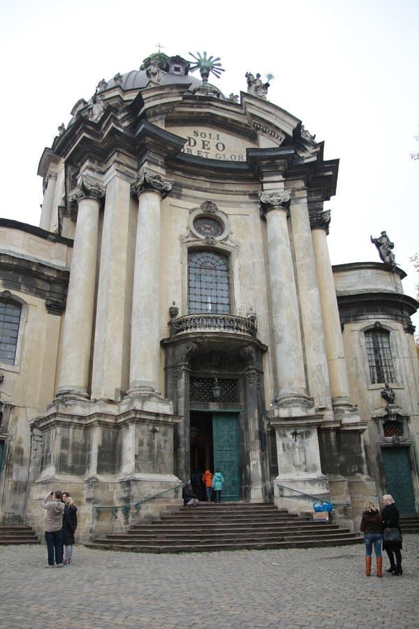 Church lviv royalty free stock image