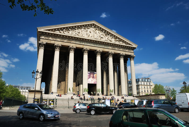 Church of the madeleine in Paris stock photo