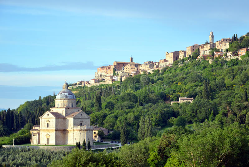 Church of the Madonna di San Biagio. In Montepulciano, Italy royalty free stock image