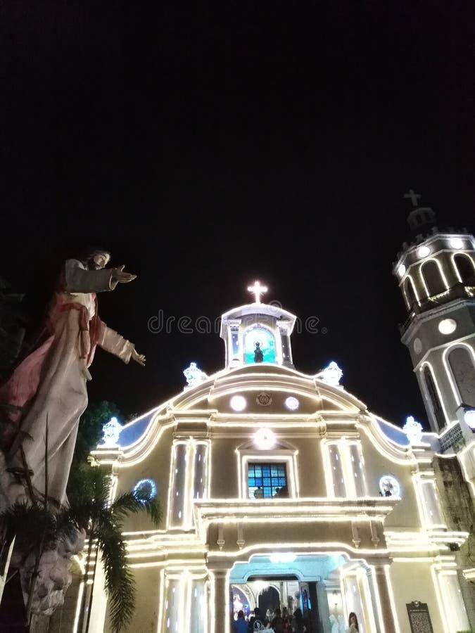 Church at Night 1. Church in Malabon, Philippines royalty free stock photo