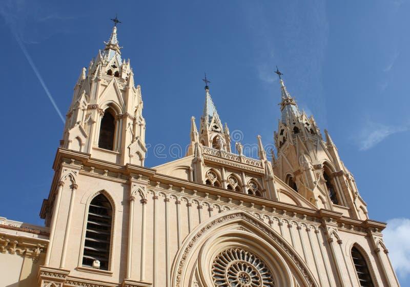 Church ( Malaga , Spain ) stock image