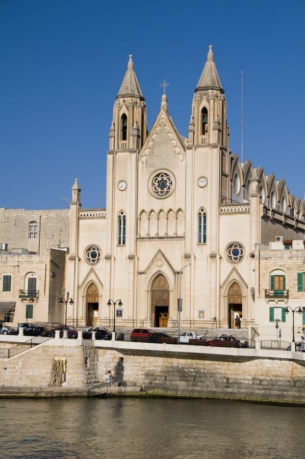 Free Church Malta Seafront St. Julian S Stock Photography - 6376782