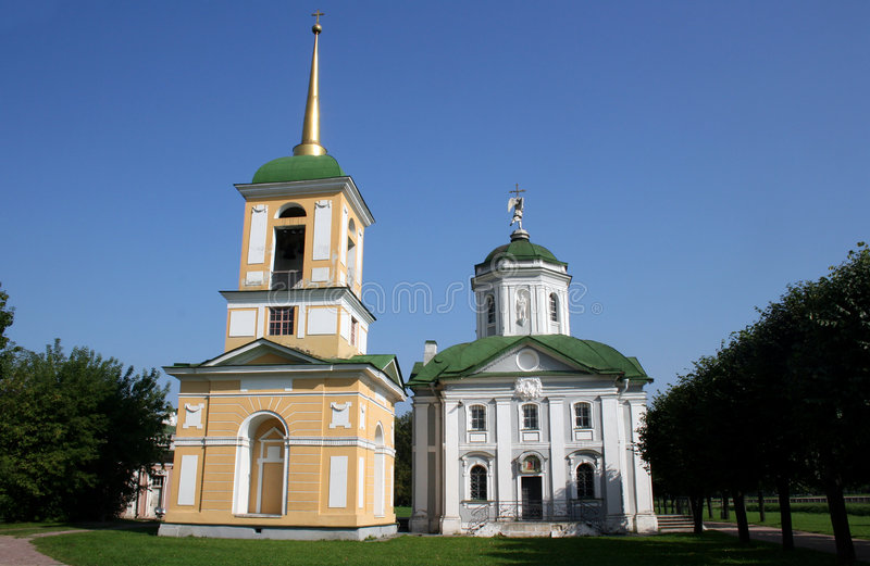 Church in manor Sheremetevyh stock photography