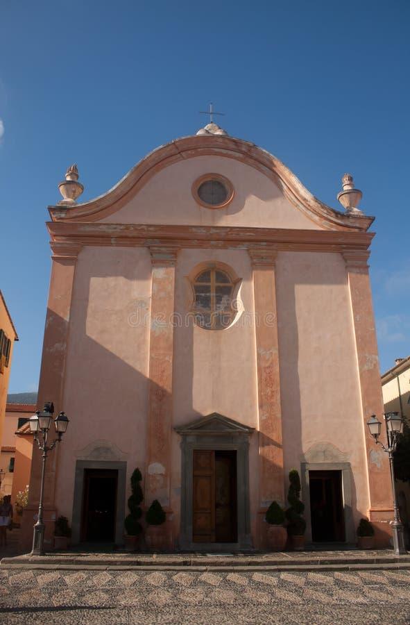 Church In Marciana Marina stock image