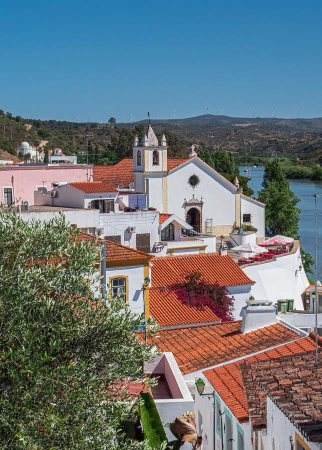 The Church of Matriz de Alcoutim, Alcoutim, Portugal. stock photography