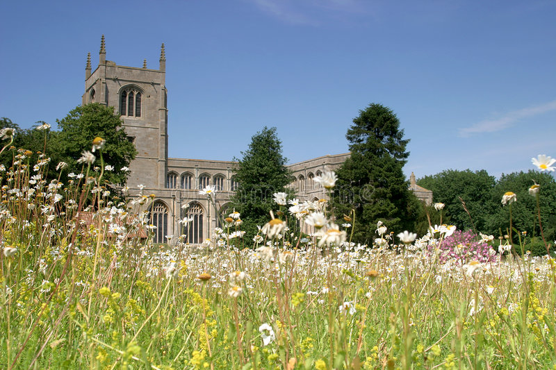 Church and Meadow royalty free stock photography