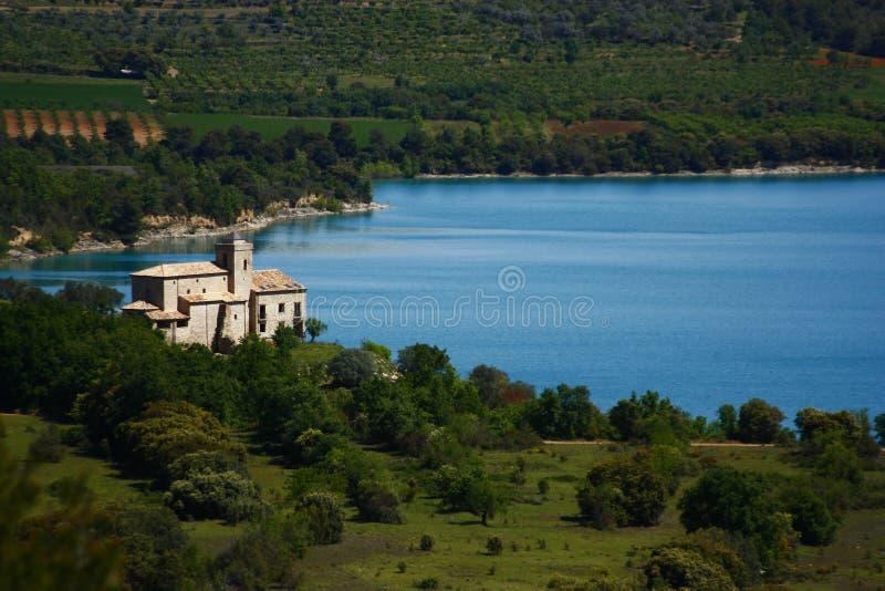 Church of mipanas, pyrenees stock photos