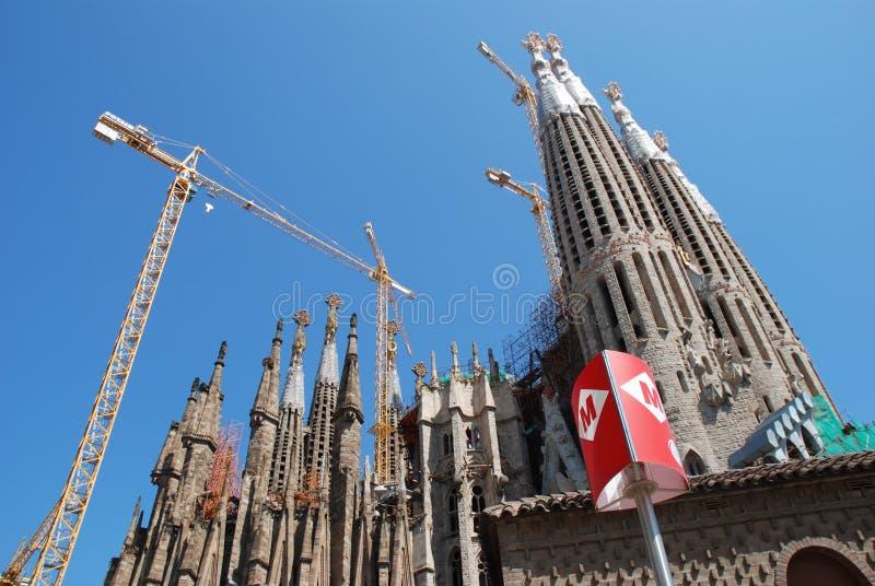 Church modernist Barcelona royalty free stock photography