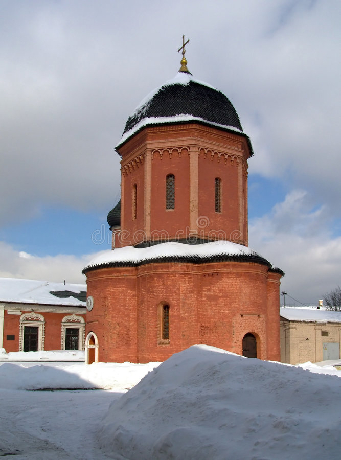 Church in a monastery. An architectural ensemble of the Is high-Peter monastery. A cathedral in the name of Sacred Peter stock images