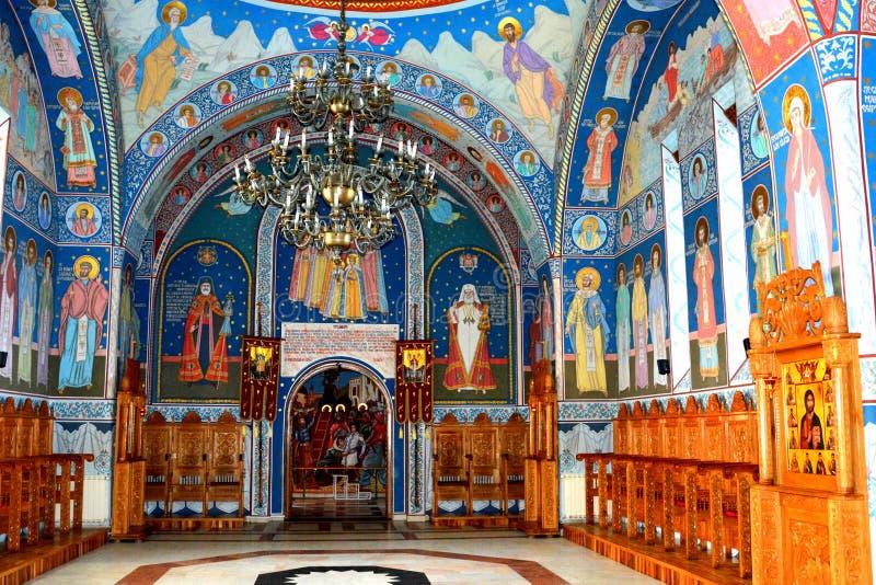 Church of the monastery Sambata, Fagaras. Monastery Sambata is a Romanian Orthodox monastery in Sâmbăta de Sus, Brașov County, in the Transylvania royalty free stock images