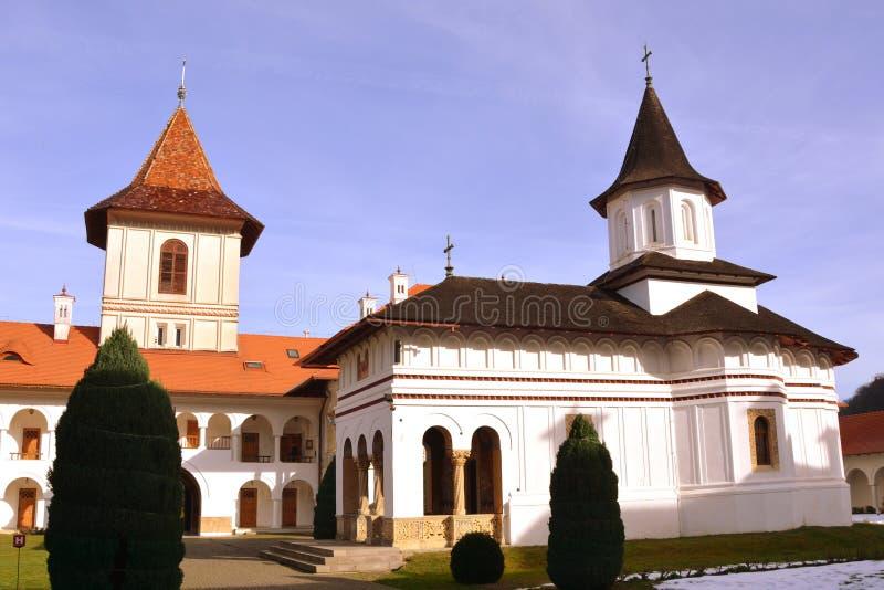 Church of Monastery Sambata. Fagaras, Transylvania. Monastery Sambata is a Romanian Orthodox monastery in Sâmbăta de Sus, Brașov County, in the stock photography