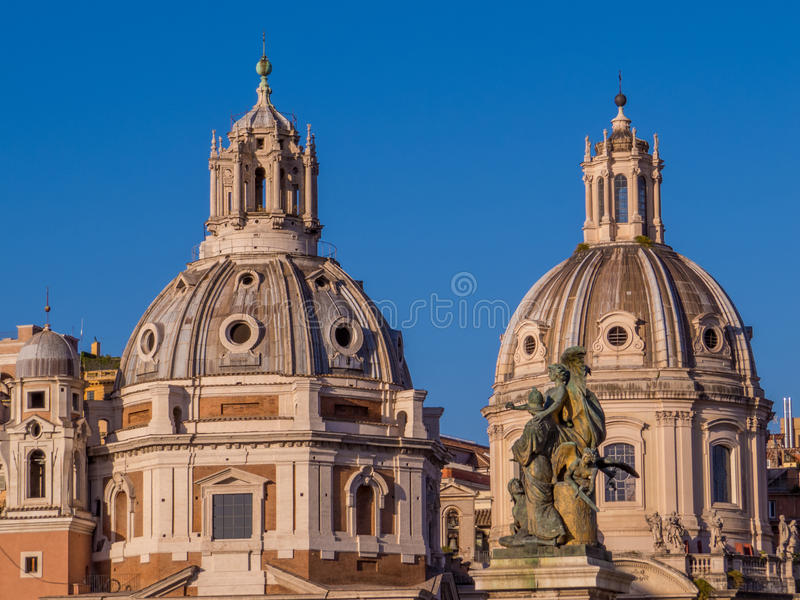 Church of the Most Holy Name of Mary, Rome. The Church of the Most Holy Name of Mary at the Trajan Forum (Italian: Santissimo Nome di Maria al Foro Traiano) royalty free stock images