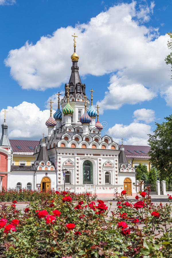 The Church of the mother of God & x22;Assuage My Sorrows& x22; in Saratov. The construction was completed in 1906. Russia. On a Sunny summer day stock images